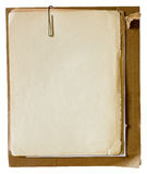 Papéis velhos com paperclip Imagem de Stock