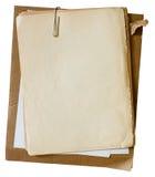 Papéis velhos com paperclip Fotografia de Stock Royalty Free