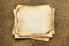 Papéis velhos da pilha Imagem de Stock