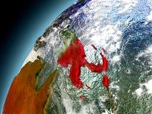 Papúa Nueva Guinea de la órbita de Earth modelo Fotografía de archivo