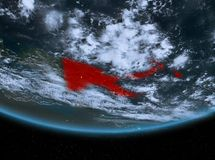Papúa Nueva Guinea en la noche Foto de archivo