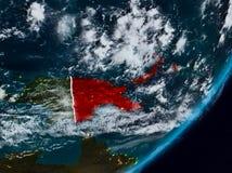 Papúa Nueva Guinea en la tierra en la noche fotos de archivo