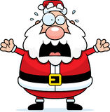 Papá Noel asustado Imagen de archivo