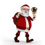 Papá Noel con la alarma Fotografía de archivo