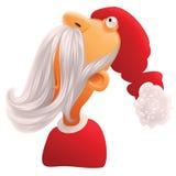 Papá Noel con la barba blanca Imagen de archivo libre de regalías