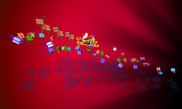 Papá Noel en un trineo Imagen de archivo