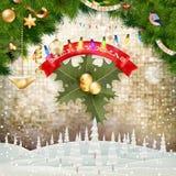 Papá Noel en un trineo EPS 10 Fotos de archivo