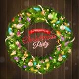 Papá Noel en un trineo EPS 10 Imagen de archivo libre de regalías