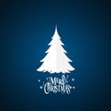 Papá Noel en un trineo Letras de la Feliz Navidad con Christma Fotos de archivo libres de regalías