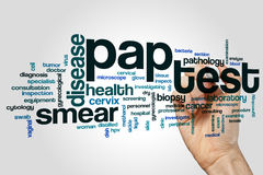Pap test word cloud. Concept on grey background Royalty Free Stock Photo
