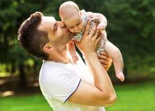Papá y bebé Foto de archivo