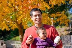 Papá y niño Imágenes de archivo libres de regalías