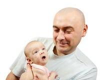 Papa aimant sa chéri neuve Image stock