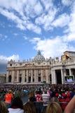 Papa Audience no quadrado de St Peter Imagem de Stock