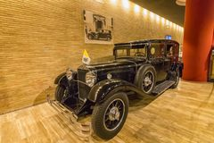 Papa Automobiles, Corridoio dei veicoli storici del trasporto del papa, museo del Vaticano Fotografie Stock Libere da Diritti