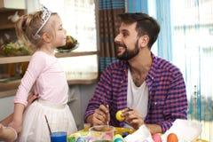 Papa avec son bébé Photo libre de droits