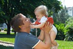 Papa and baby Royalty Free Stock Photo