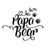 Papa Bear - Met de hand gemaakte kalligrafie royalty-vrije illustratie