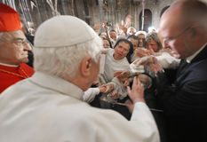 Papa Benedict XVI. Immagini Stock Libere da Diritti