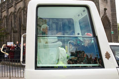 Papa Benedict XVI, Edinburgh Scozia, 16.09.2010 fotografie stock