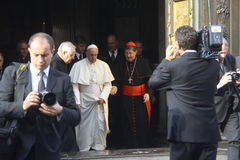 Papa Bergoglio Francesco a Firenze Immagine Stock
