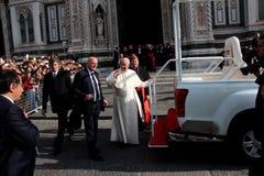 Papa Bergoglio Francisco en Florencia Fotos de archivo