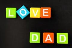 Papa d'amour Images libres de droits