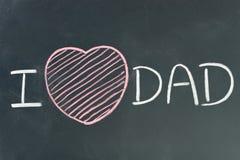 PAPA d'amour d'I écrit par main Image stock