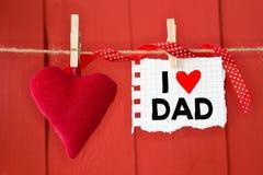 Papa d'amour d'I écrit par message Images libres de droits