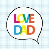 Papa d'amour dans la forme de bulle Photo libre de droits