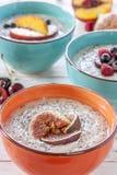 Papa de aveia do café da manhã da manhã Foto de Stock Royalty Free