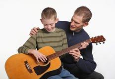 Papa de guitare Photos stock