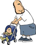 Papa en baby royalty-vrije illustratie
