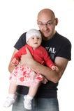 Papa en dochter. Royalty-vrije Stock Foto's