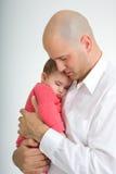 Papa en Dochter 2 Stock Afbeelding