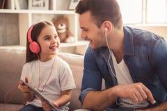 Papa en dochter Stock Foto's