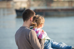 Papa en jonge dochter stock foto