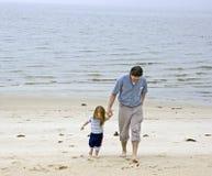Papa et descendant Image stock