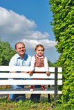 Papa et descendant photographie stock