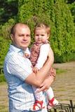 Papa et descendant photo stock