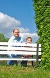 Papa et descendant photographie stock libre de droits