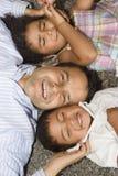 Papa et enfants photo libre de droits