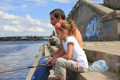 Papa et fille images libres de droits