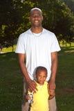 Papa et fils Photo libre de droits