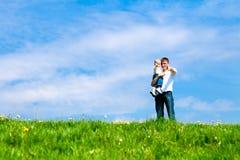 Papa et fils Photographie stock