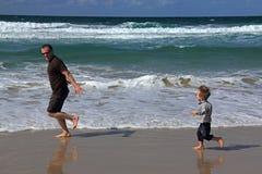 Papa et fils Photos libres de droits