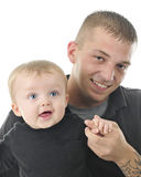 Papa et fils heureux Image stock