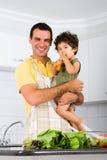 Papa et fils simples Image stock