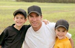Papa et garçons Photos stock