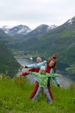 Papa et maman avec le descendant Photographie stock